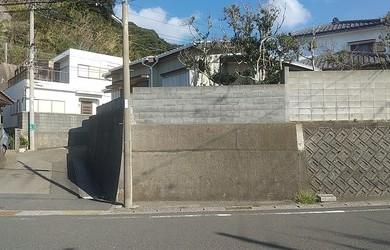 勝浦市吉尾 海を望む古家付の土地